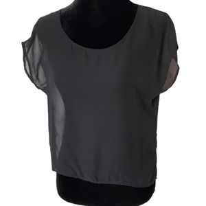 One Clothing Sheer Black Top Size M Women's